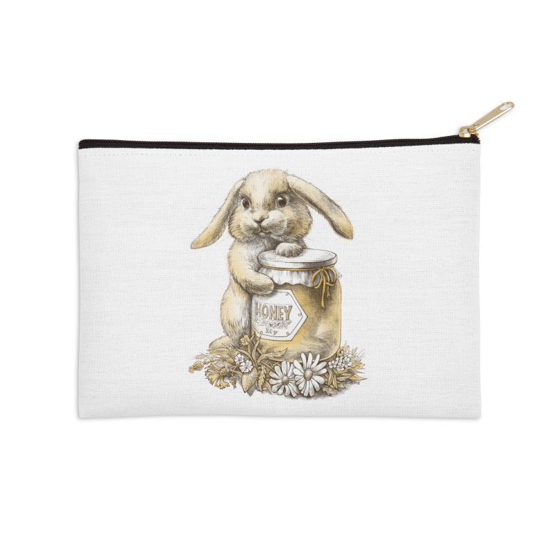 Honey bunny Accessories Zip Pouch by elinakious's Artist Shop