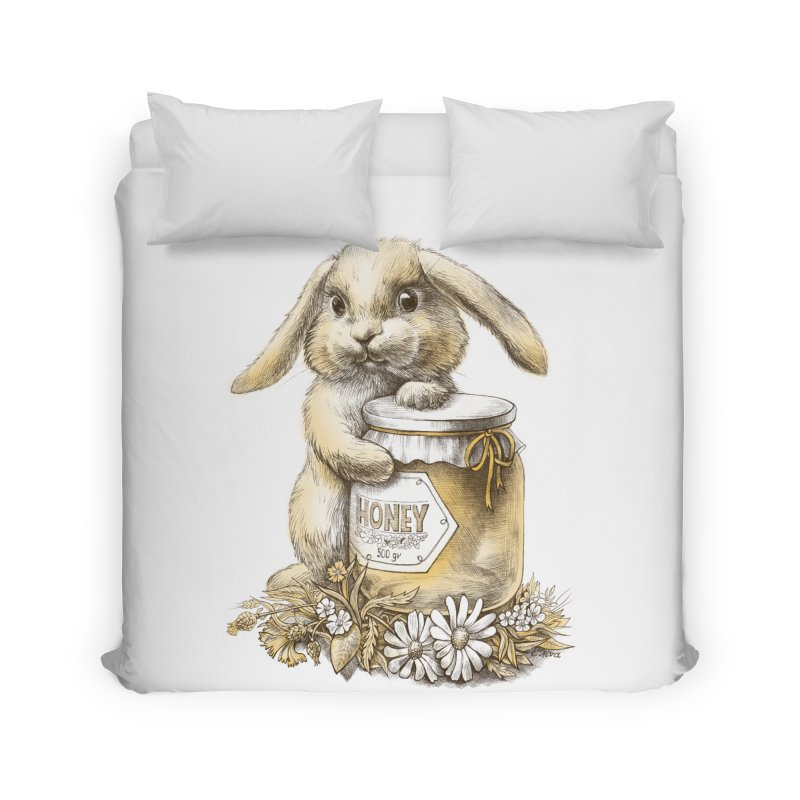 Honey bunny Home Duvet by elinakious's Artist Shop