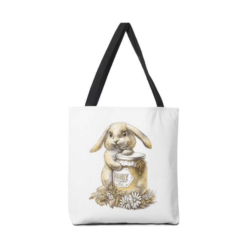 Honey bunny Accessories Bag by elinakious's Artist Shop