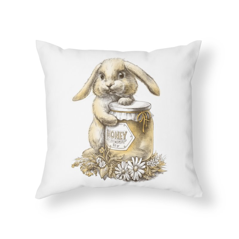 Honey bunny Home Throw Pillow by elinakious's Artist Shop