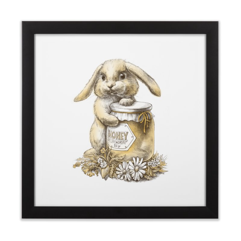 Honey bunny Home Framed Fine Art Print by elinakious's Artist Shop