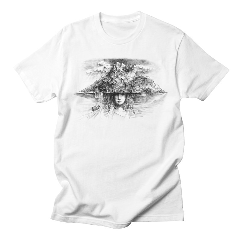 Samothrace the island of dreams Men's T-Shirt by elinakious's Artist Shop