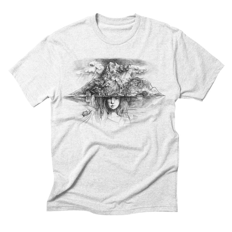 Samothrace the island of dreams Men's Triblend T-shirt by elinakious's Artist Shop