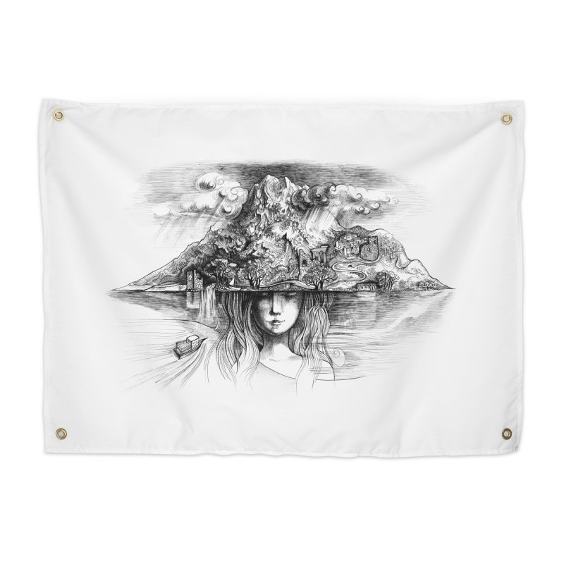 Samothrace the island of dreams Home Tapestry by elinakious's Artist Shop