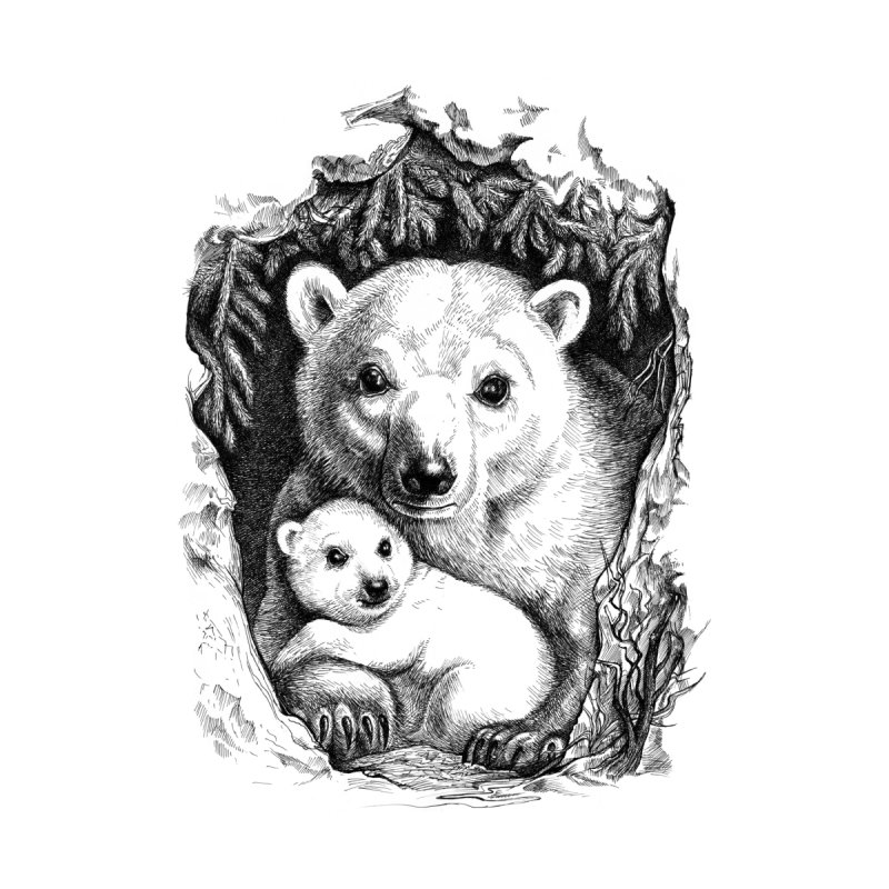 Polar bear family by elinakious's Artist Shop