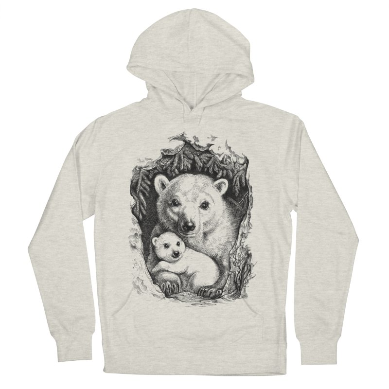 Polar bear family Men's Pullover Hoody by elinakious's Artist Shop