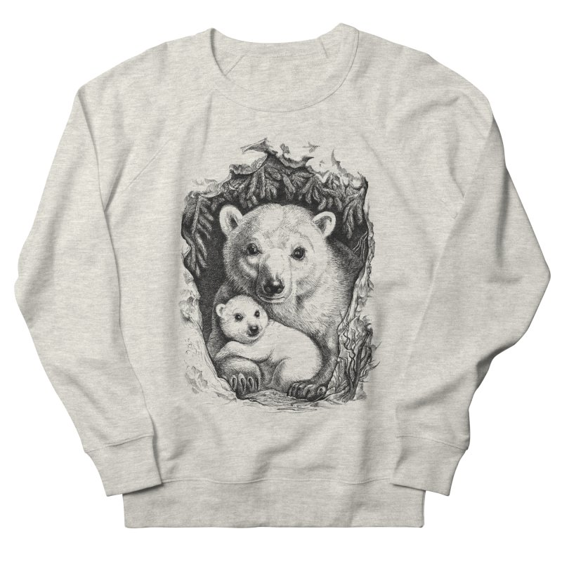 Polar bear family Men's Sweatshirt by elinakious's Artist Shop