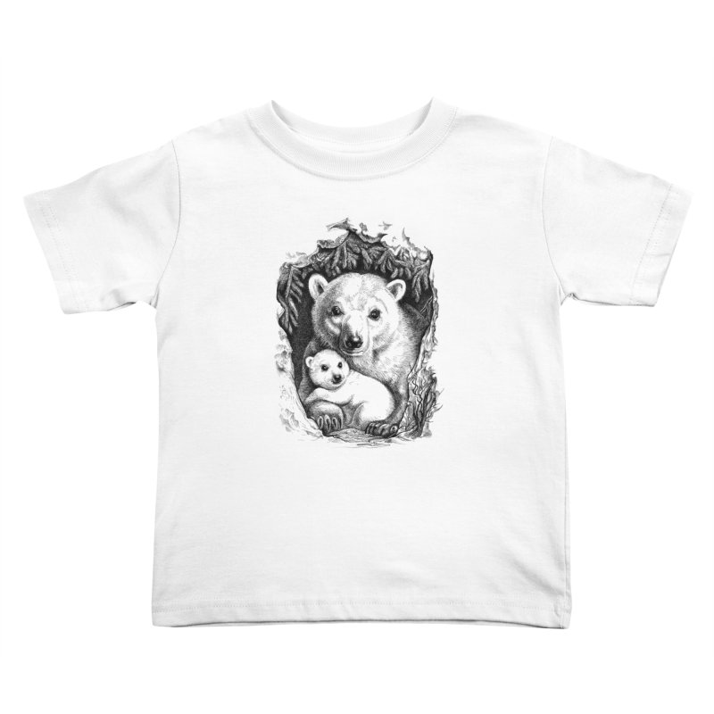 Polar bear family Kids Toddler T-Shirt by elinakious's Artist Shop