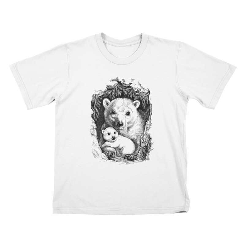 Polar bear family Kids T-shirt by elinakious's Artist Shop