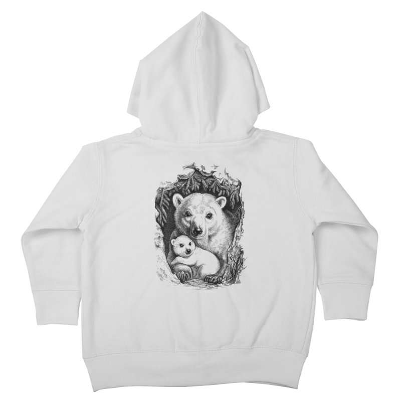 Polar bear family Kids Toddler Zip-Up Hoody by elinakious's Artist Shop