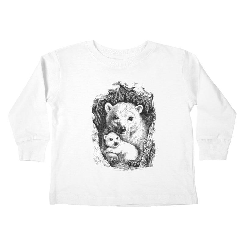 Polar bear family Kids Toddler Longsleeve T-Shirt by elinakious's Artist Shop
