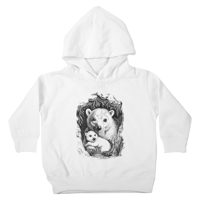 Polar bear family Kids Toddler Pullover Hoody by elinakious's Artist Shop