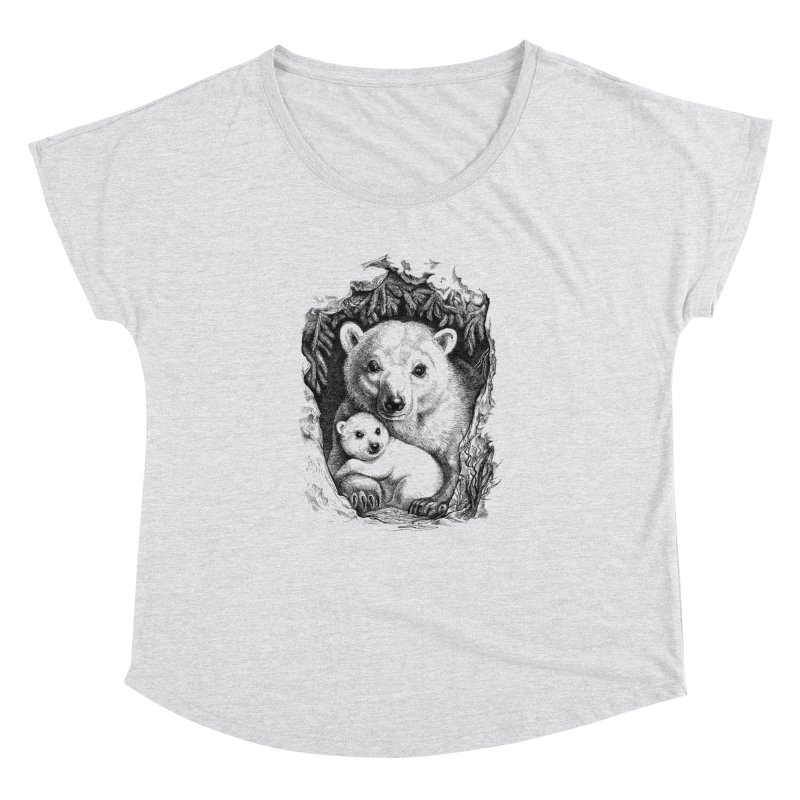 Polar bear family Women's Dolman by elinakious's Artist Shop