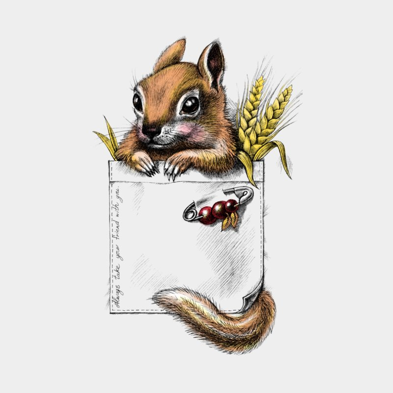Pocket chipmunk by elinakious's Artist Shop