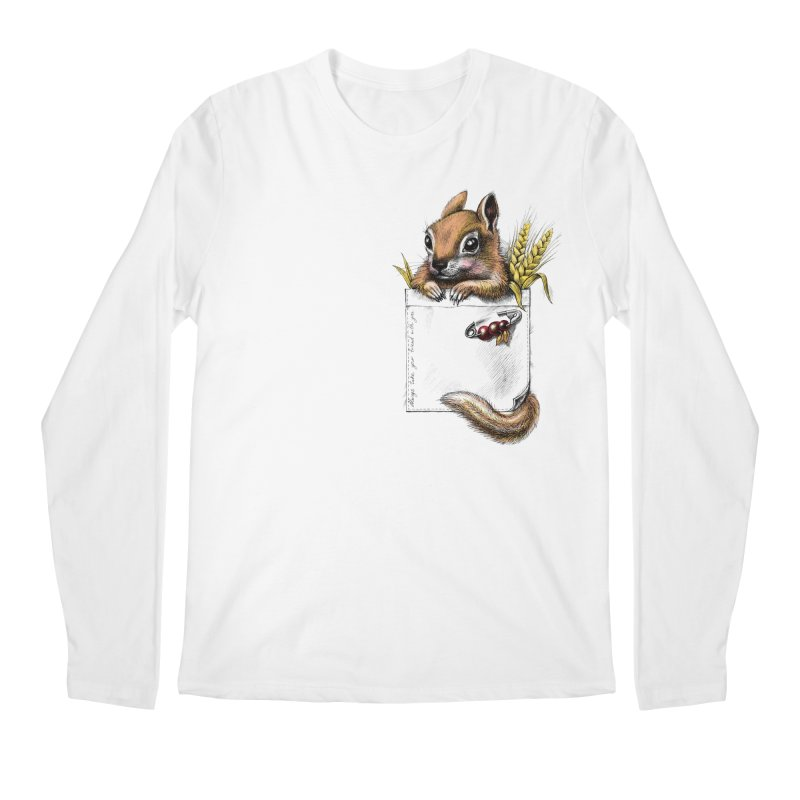 Pocket chipmunk Men's Longsleeve T-Shirt by elinakious's Artist Shop