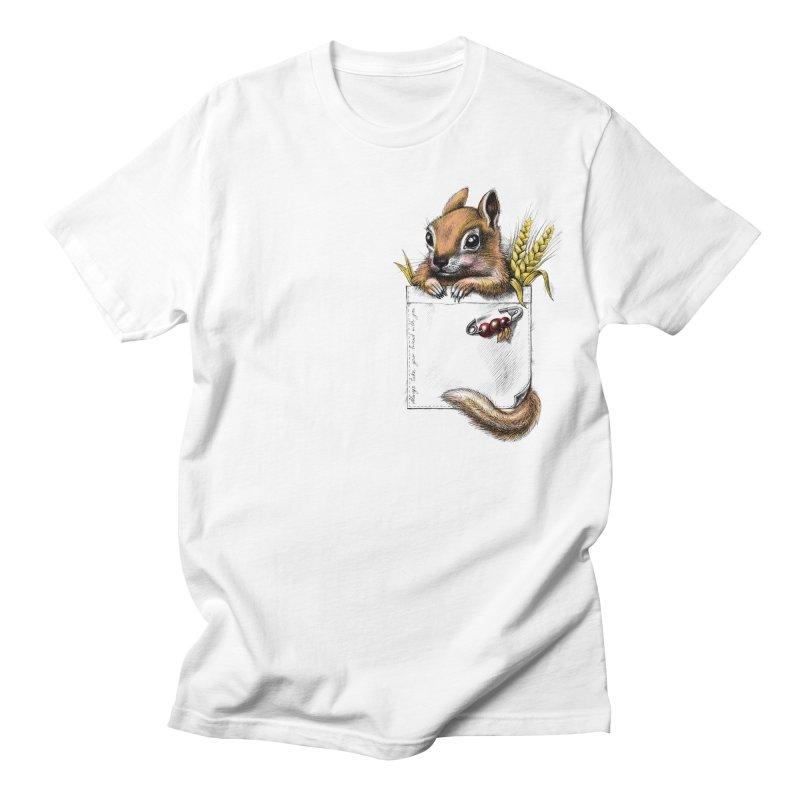 Pocket chipmunk Men's T-shirt by elinakious's Artist Shop