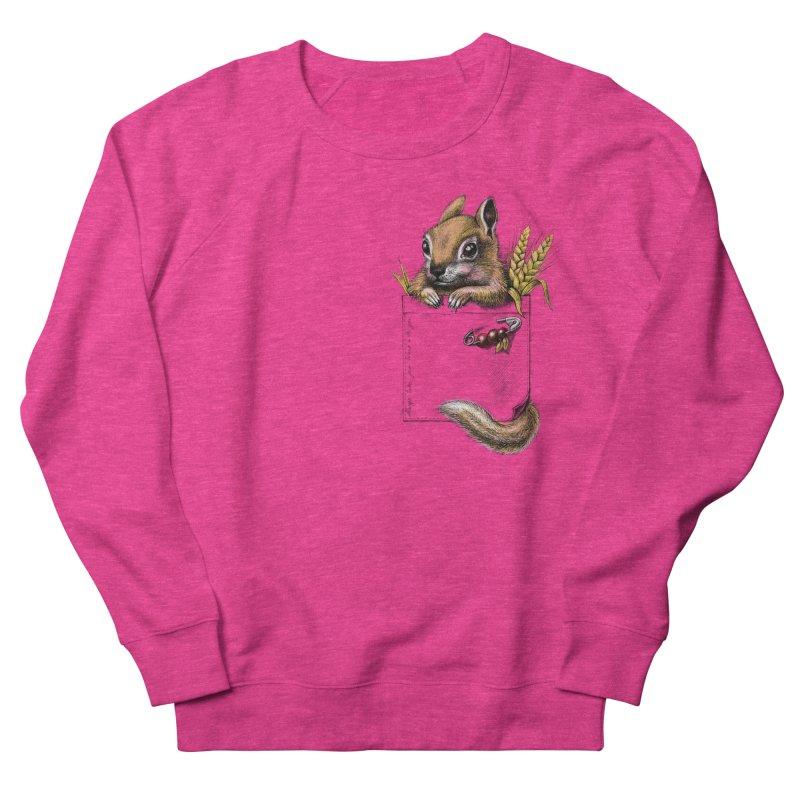 Pocket chipmunk Women's Sweatshirt by elinakious's Artist Shop