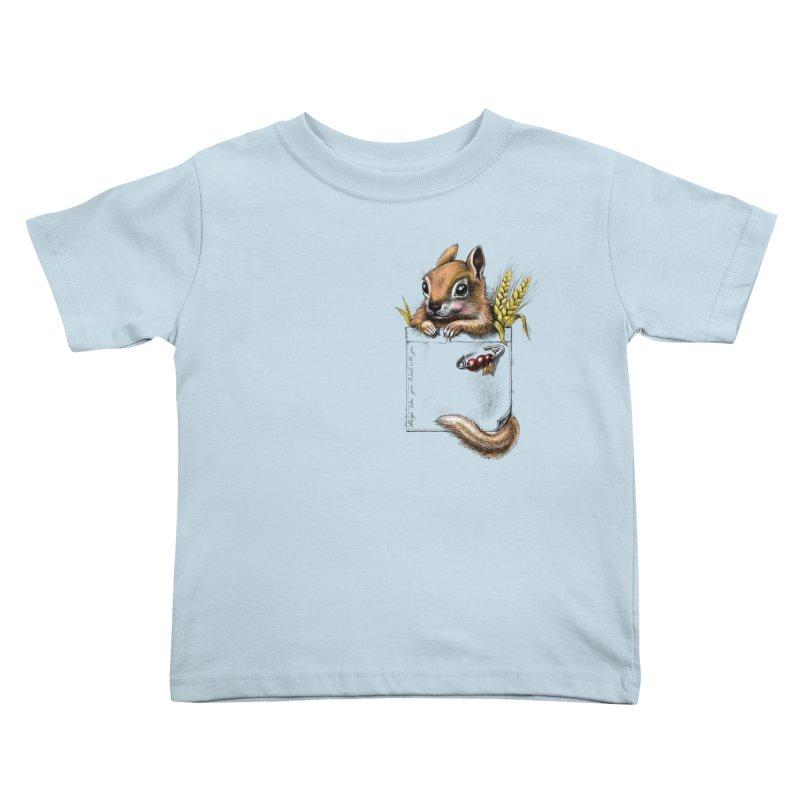 Pocket chipmunk Kids Toddler T-Shirt by elinakious's Artist Shop