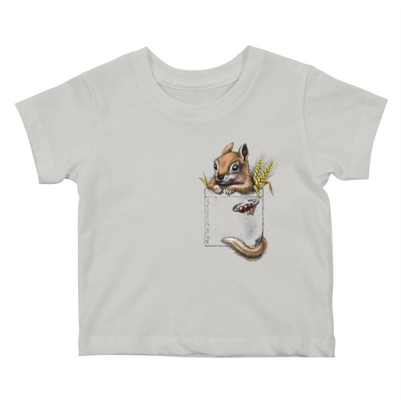 Pocket chipmunk Kids Baby T-Shirt by elinakious's Artist Shop