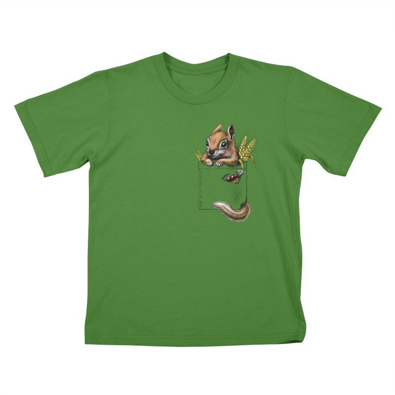 Pocket chipmunk Kids T-Shirt by elinakious's Artist Shop