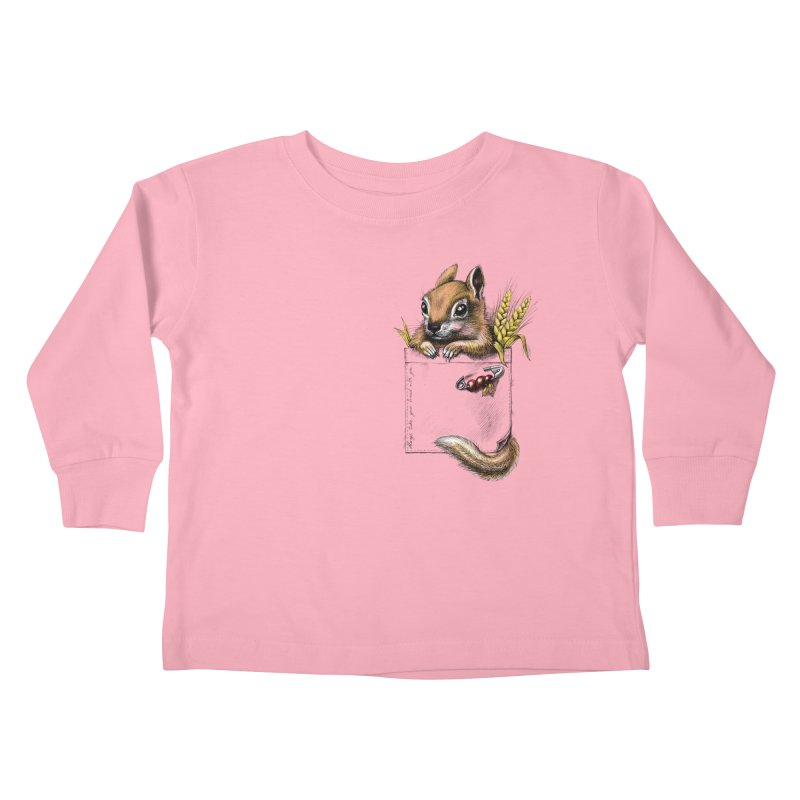 Pocket chipmunk Kids Toddler Longsleeve T-Shirt by elinakious's Artist Shop