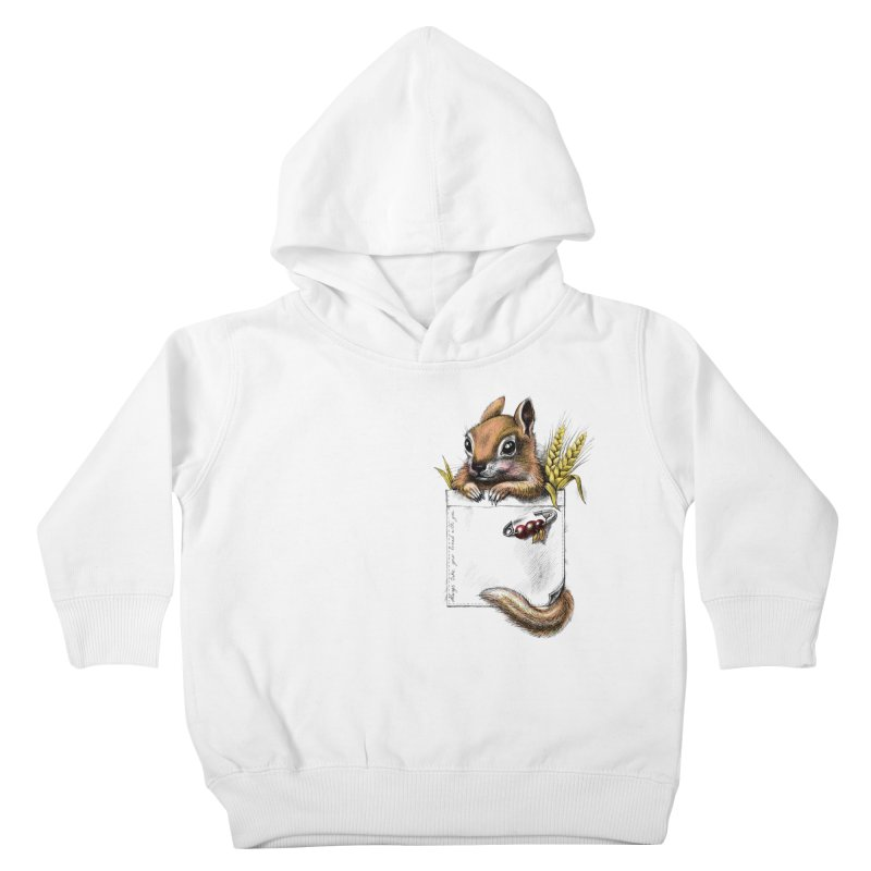 Pocket chipmunk Kids Toddler Pullover Hoody by elinakious's Artist Shop