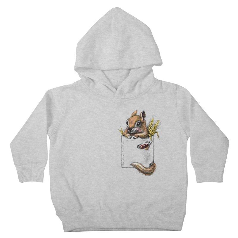 Pocket chipmunk Kids Toddler Pullover Hoody by elinakious's Artist Shop