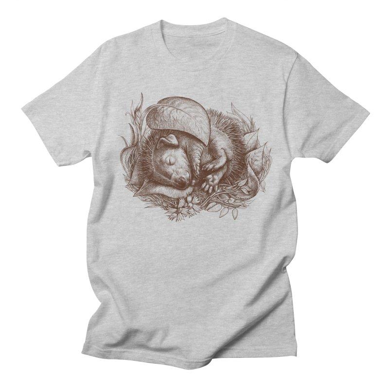 Baby hedgehog sleeping Men's T-Shirt by elinakious's Artist Shop