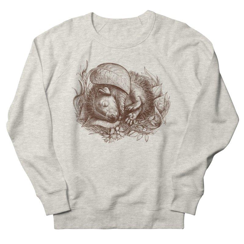 Baby hedgehog sleeping Men's Sweatshirt by elinakious's Artist Shop