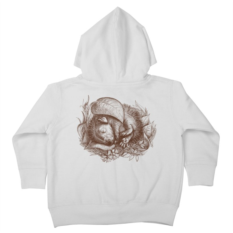 Baby hedgehog sleeping Kids Toddler Zip-Up Hoody by elinakious's Artist Shop