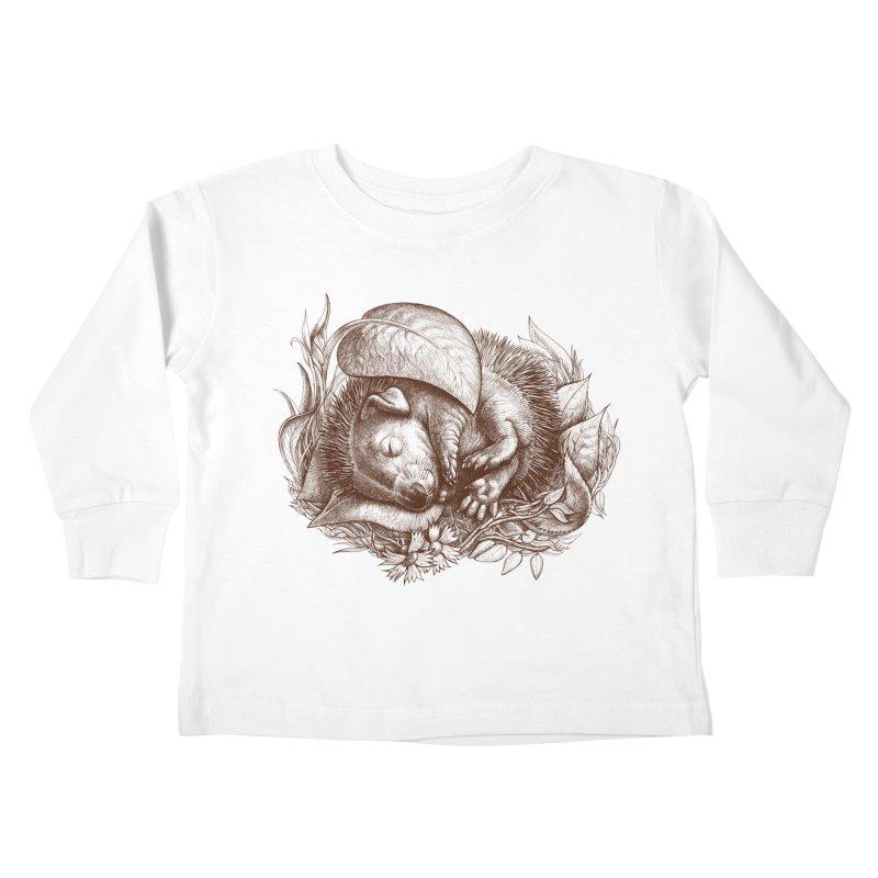 Baby hedgehog sleeping Kids Toddler Longsleeve T-Shirt by elinakious's Artist Shop