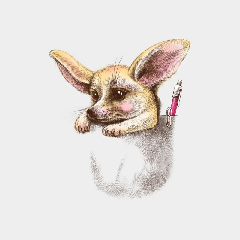 Pocket fennec fox by elinakious's Artist Shop