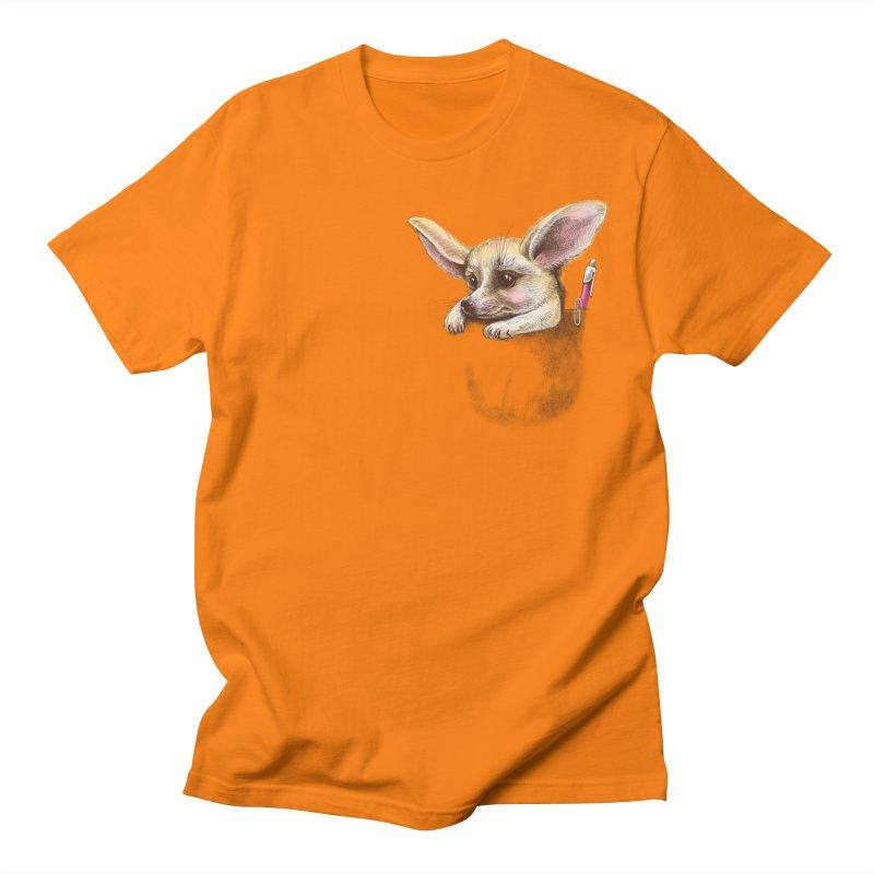 Pocket fennec fox Men's T-shirt by elinakious's Artist Shop