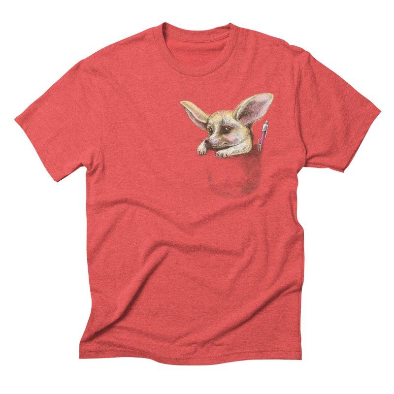 Pocket fennec fox Men's Triblend T-Shirt by elinakious's Artist Shop