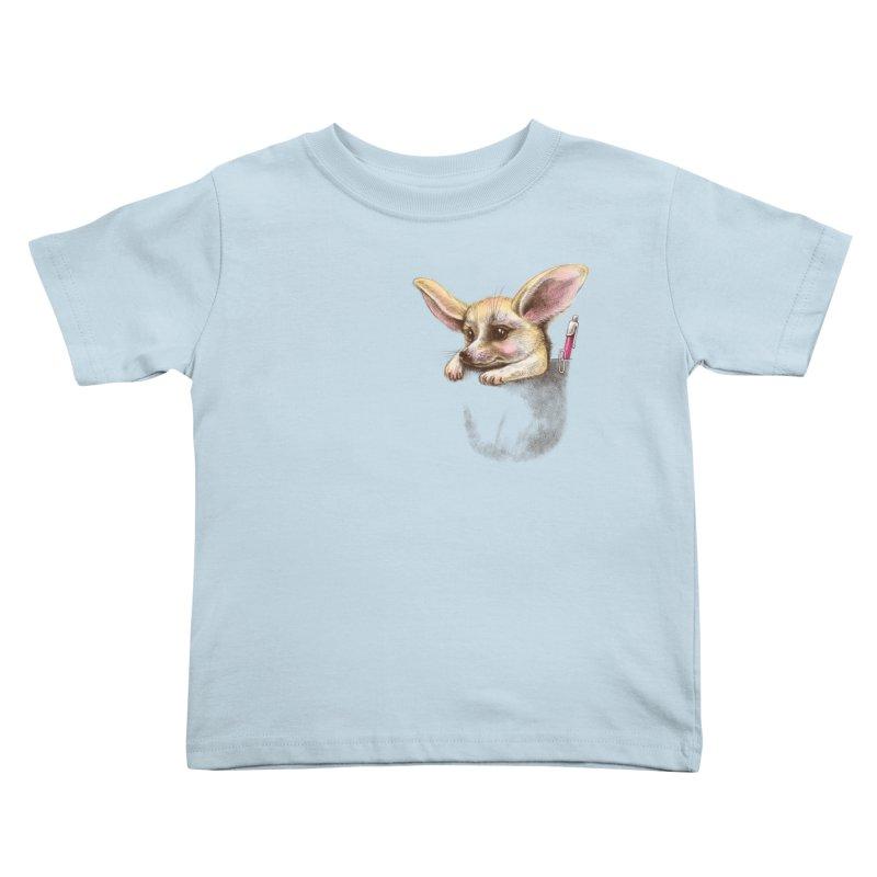 Pocket fennec fox Kids Toddler T-Shirt by elinakious's Artist Shop