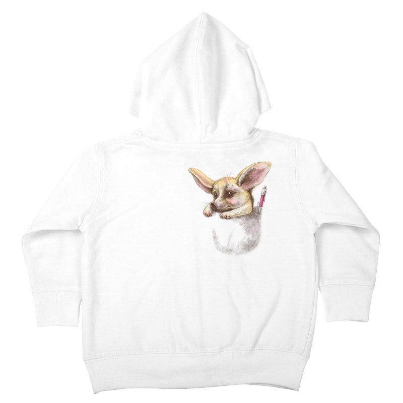Pocket fennec fox Kids Toddler Zip-Up Hoody by elinakious's Artist Shop