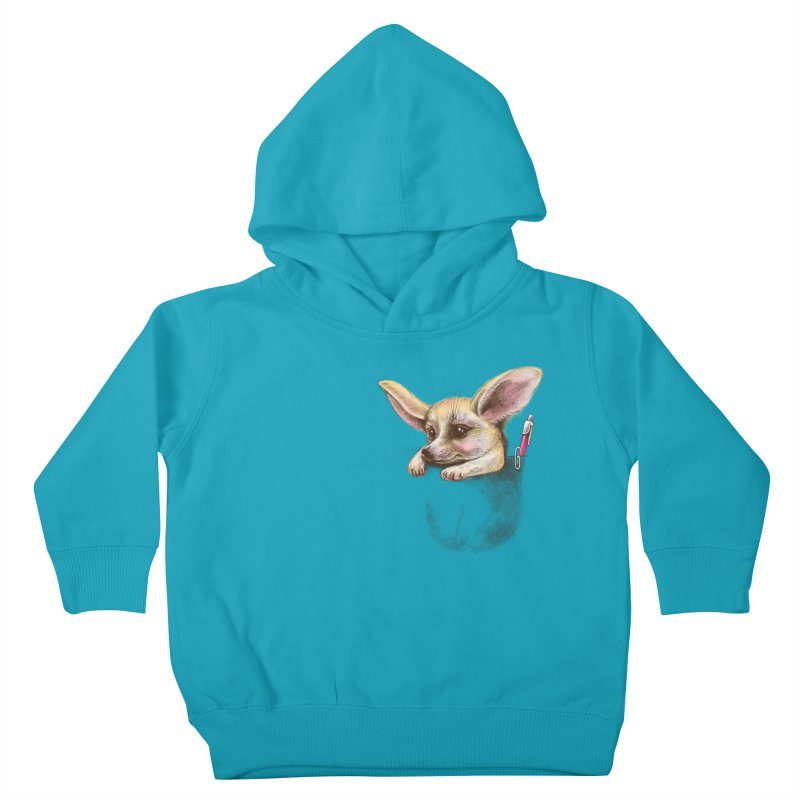 Pocket fennec fox Kids Toddler Pullover Hoody by elinakious's Artist Shop