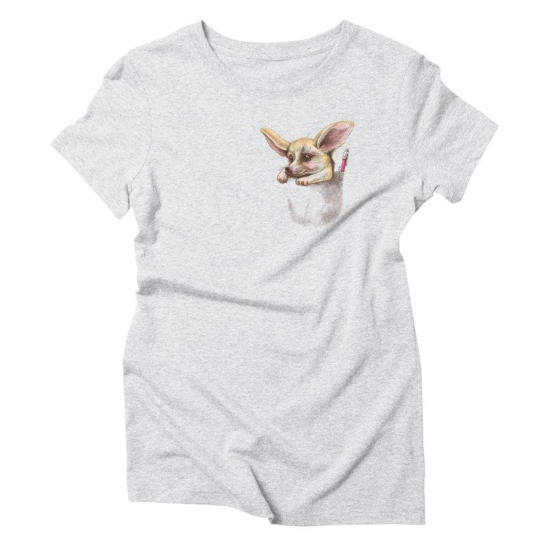 Pocket fennec fox Women's Triblend T-Shirt by elinakious's Artist Shop