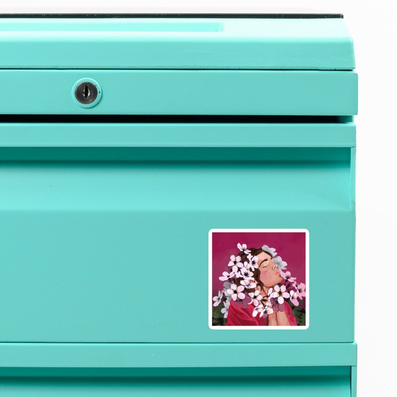 Pop pink Spring Accessories Magnet by elisaroselli's Artist Shop