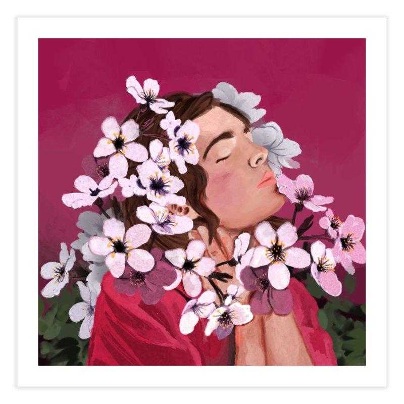 Pop pink Spring Home Fine Art Print by elisaroselli's Artist Shop
