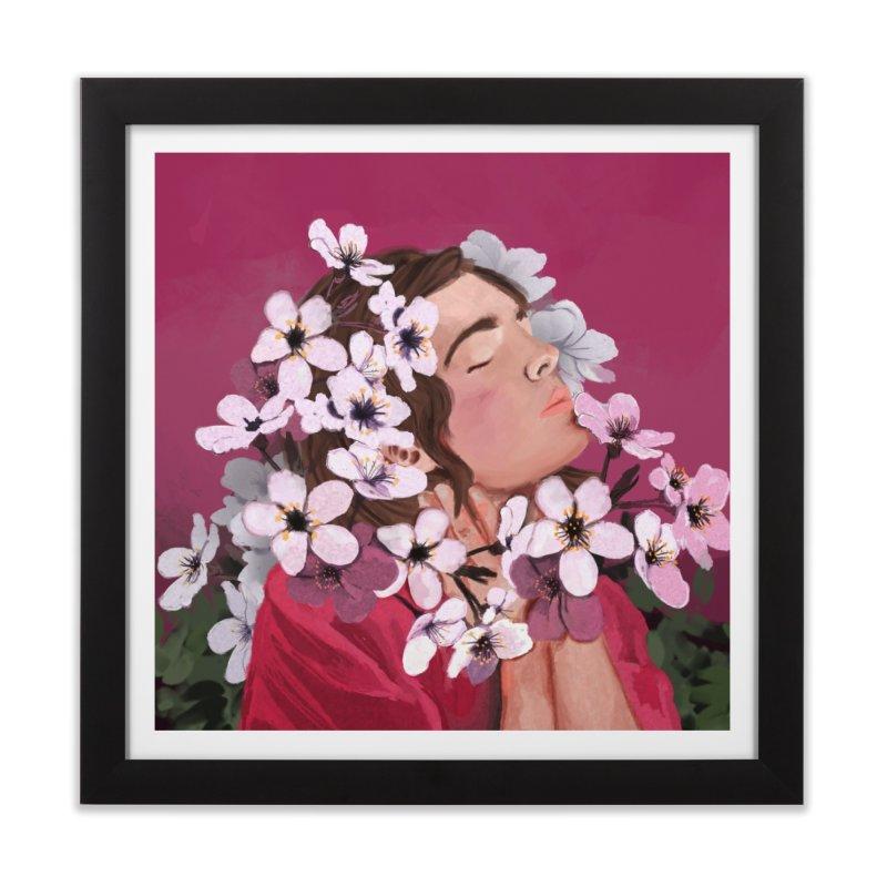 Pop pink Spring Home Framed Fine Art Print by elisaroselli's Artist Shop
