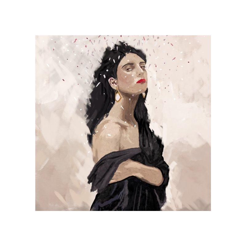 Woman with earrings Home Fine Art Print by elisaroselli's Artist Shop