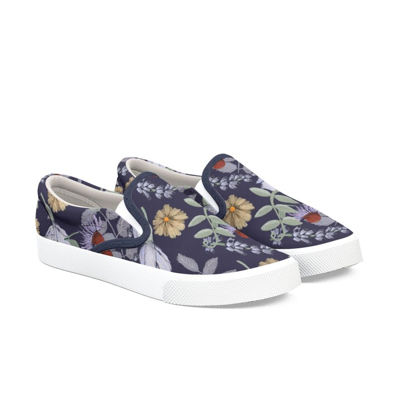 Yellow and violet flowers Women's Shoes by elisaroselli's Artist Shop
