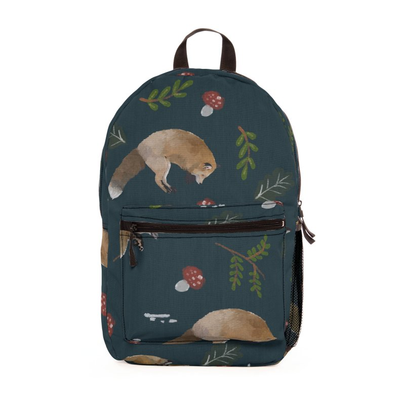 Jumping fox and elements of the forest Accessories Bag by elisaroselli's Artist Shop