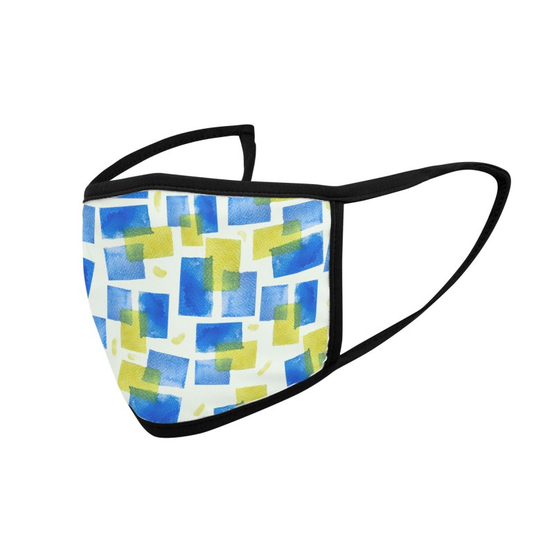 Watercolor Texture Accessories Face Mask by elisaroselli's Artist Shop
