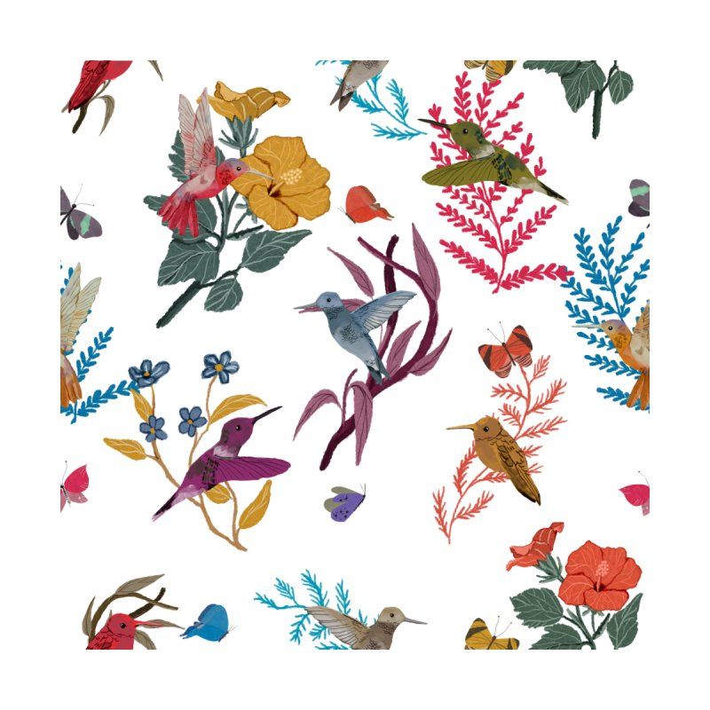 Hummingbird and butterflies Accessories Phone Case by elisaroselli's Artist Shop