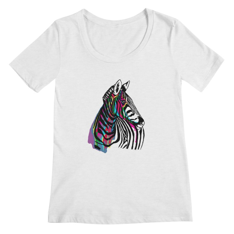 I just want to be a unicorn Women's Scoopneck by eliseanna's Artist Shop