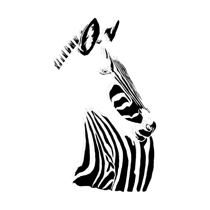 Black stripes on white or white stripes on black? by eliseanna's Artist Shop