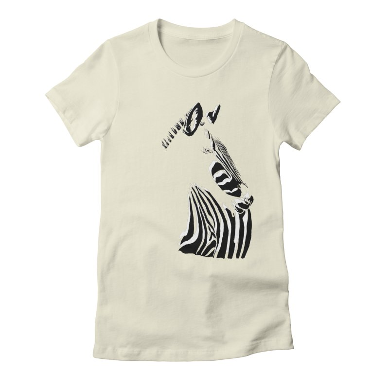 Black stripes on white or white stripes on black? Women's Fitted T-Shirt by eliseanna's Artist Shop