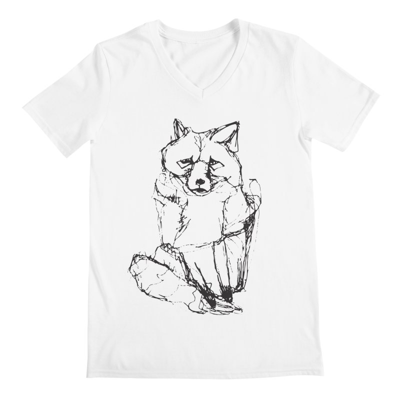 Fox tails Men's V-Neck by eliseanna's Artist Shop